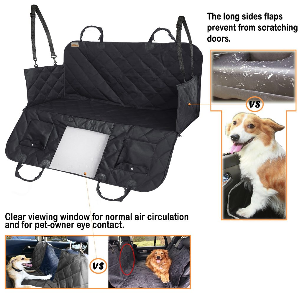 Dog Seat Cover Clear Viewing Window - B-Comfort